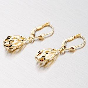 Zlaté visací náušnice 42-3505