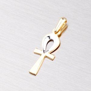 Přívěsek - zlatý kříž 43-2742