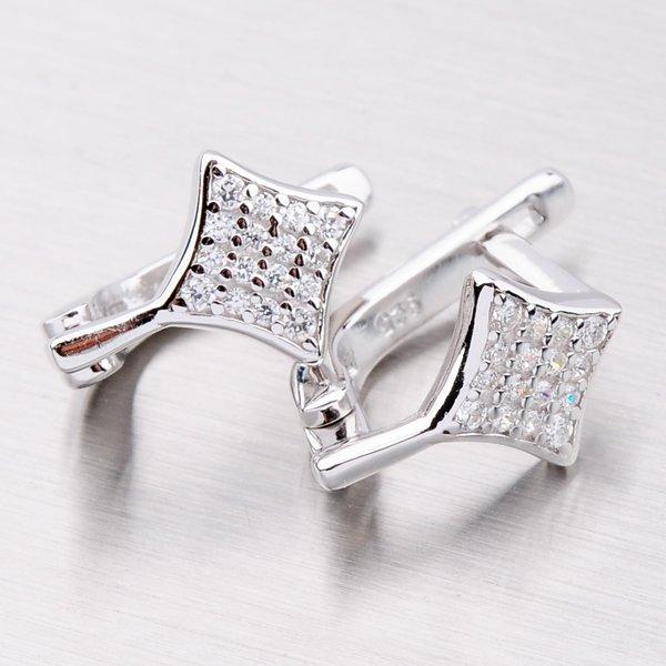 Elegantní stříbrné náušnice EXX07130041