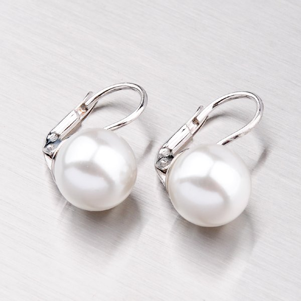 Stříbrné náušnice s perlou 6446D10