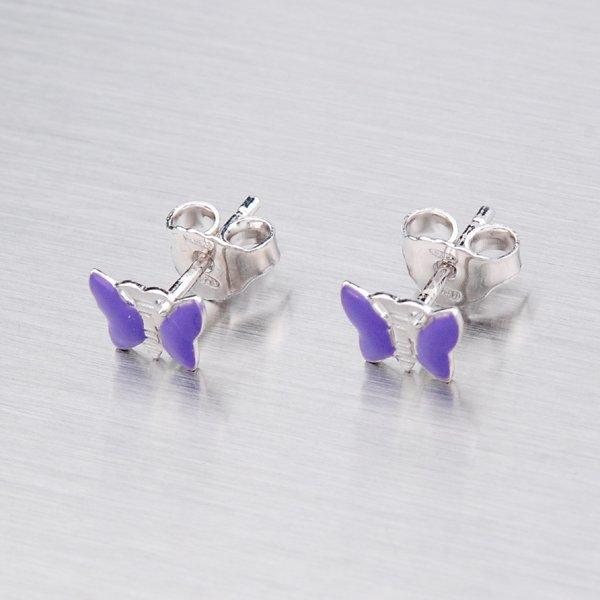 Stříbrné náušnice - motýlek M604216F