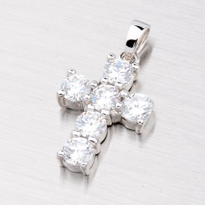 Stříbrný křížek se zirkony MTP1910