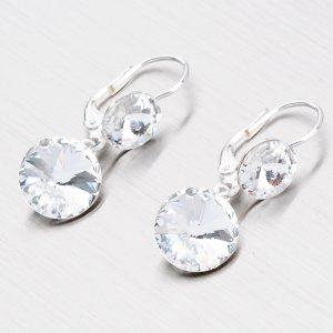 Stříbrné visací náušnice N336B-JK