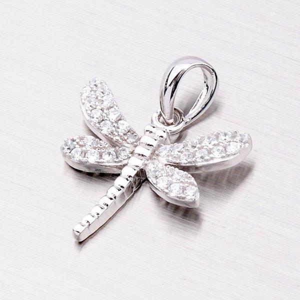 Stříbrná vážka se zirkony PXX10130033