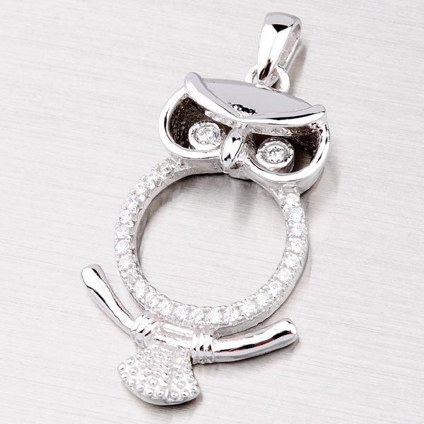 Stříbrný přívěsek - sova PXX02130478