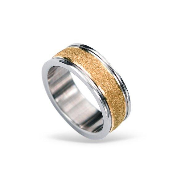 Ocelový prsten RSS424-ROSEGOLD