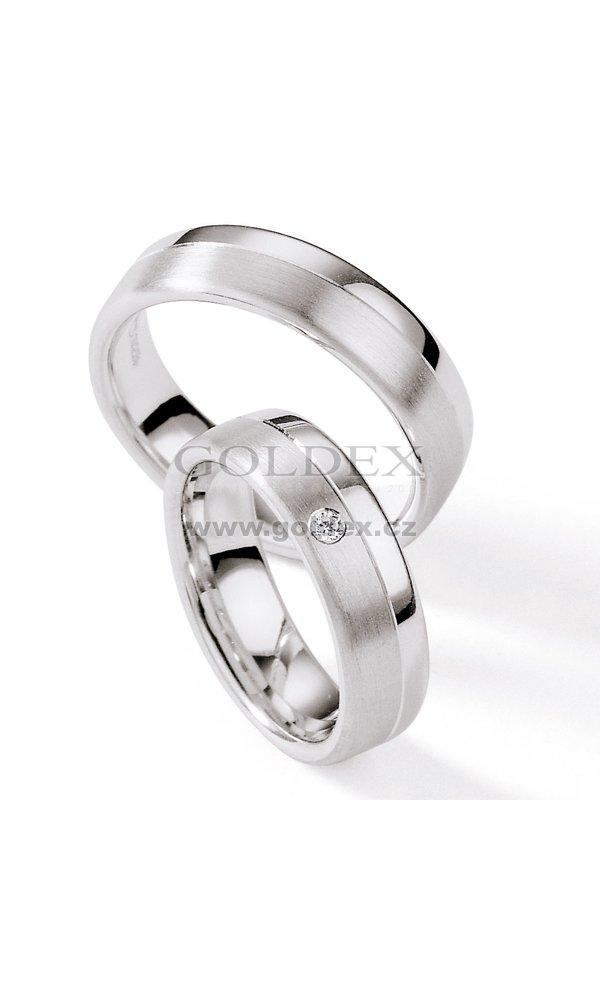 Stribrne Snubni Prsteny S Diamantem S110 S110 Goldex Cz
