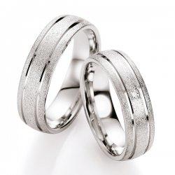 Snubní prsteny stříbrné s diamantem S10090