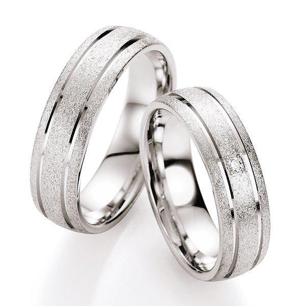 Snubní prsteny stříbrné s diamantem S10090 S10090