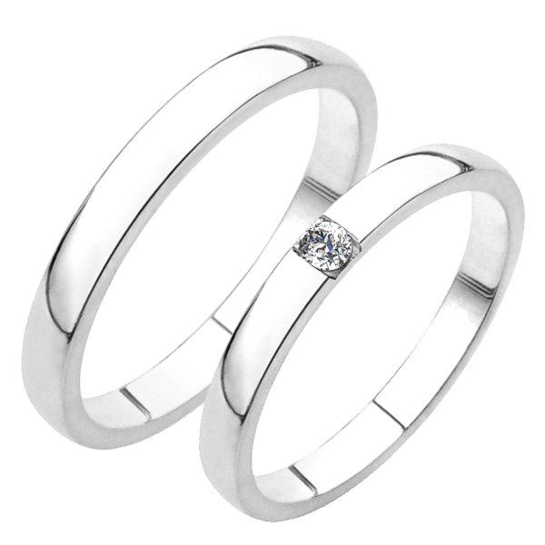Snubní prsteny bílé zlato SP-230B