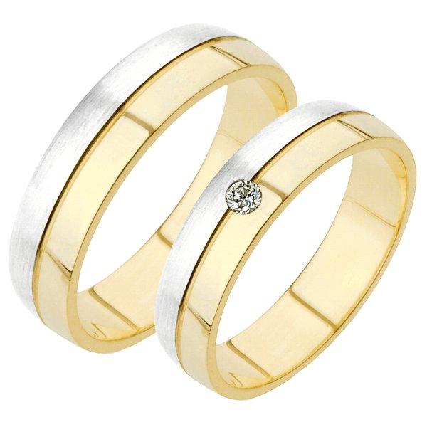 SP-229 Zlaté snubní prsteny SP-229