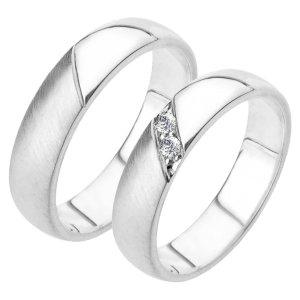 Snubní prsteny bílé zlato SP-223