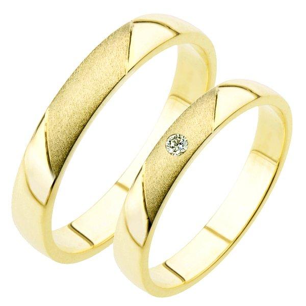 Zlaté snubní prsteny SP-207