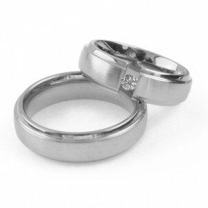 Snubní prsteny chirurgická ocel - lesk/mat SPRB6-18-08LM