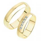 Snubní prsteny ze žlutého zlata SP-240Z