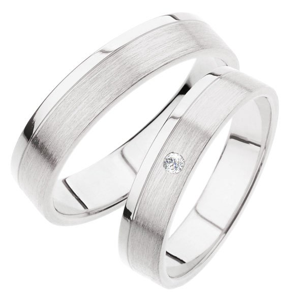 SP-242B Snubní prsteny z bílého zlata SP-242B