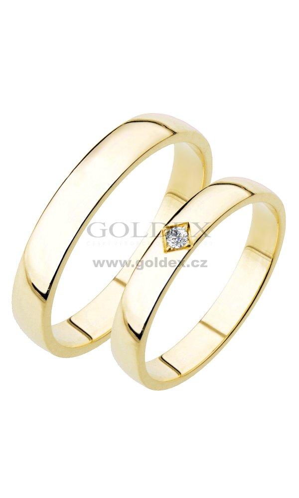 Sp 204 Snubni Prsteny Zlute Zlato Sp 204z Goldex Cz