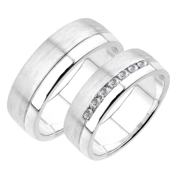 Snubní prsteny bílé zlato SP-221