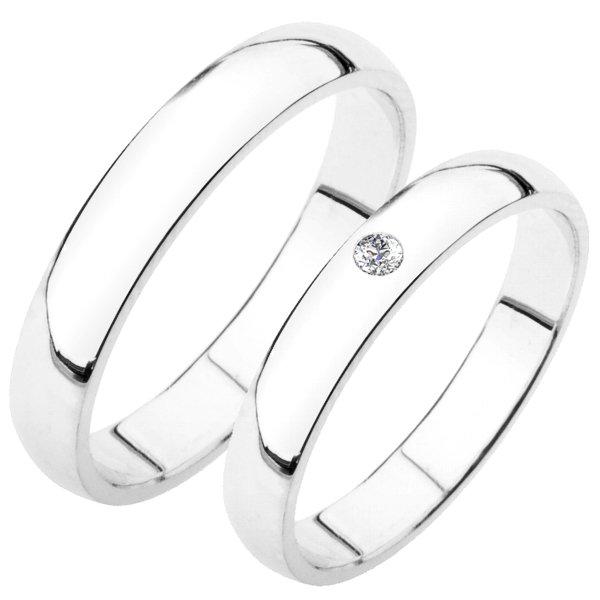 Snubní prsteny bílé zlato SP-202B