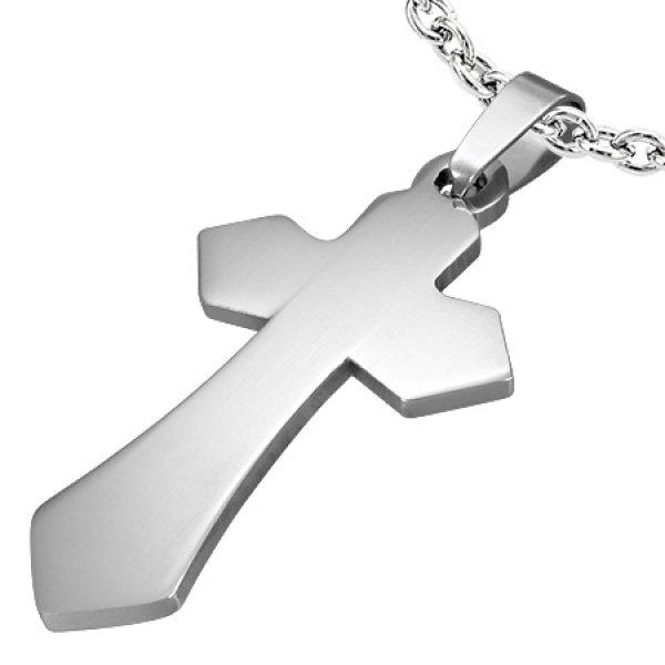 Kříž z chirurgické oceli GTPB159