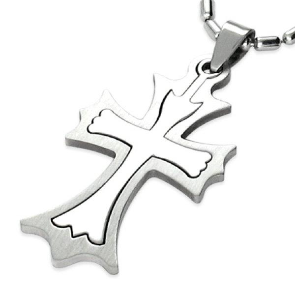 Ocelový kříž GTPB048