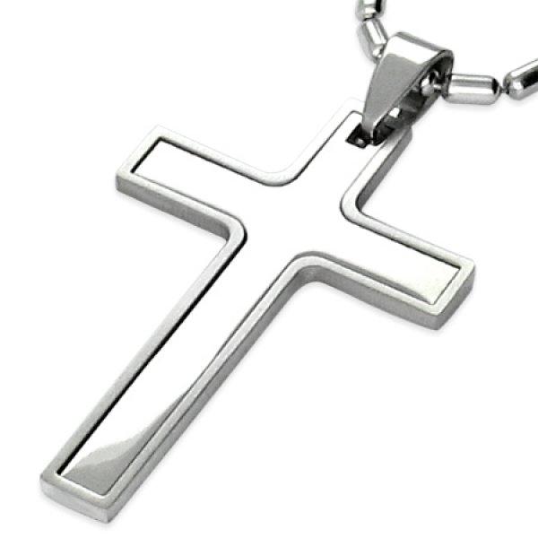 Ocelový přívěsek - kříž GTPB017