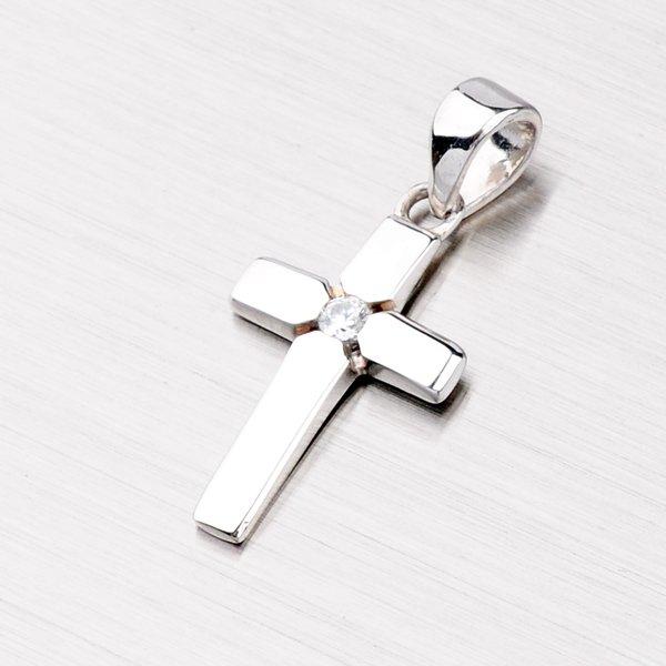 Stříbrný křížek se zirkonem VAALP0855-RD-FCZ