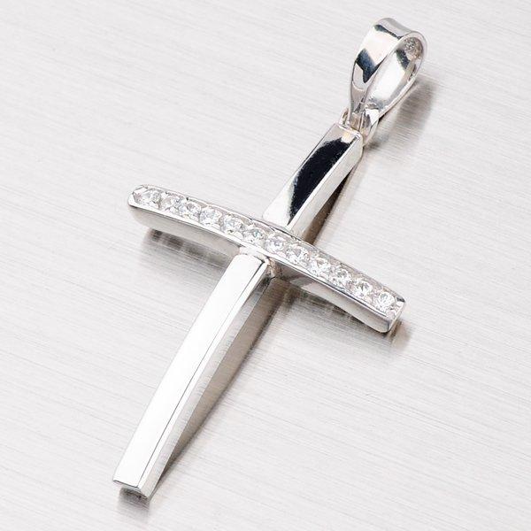 Křížek se zirkony XAATP0002-RD-FCZ