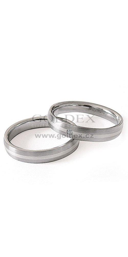 08f3ce2e5 Snubní prsteny chirurgická ocel ZAG14400-+-ZAG14401 : Goldex.cz