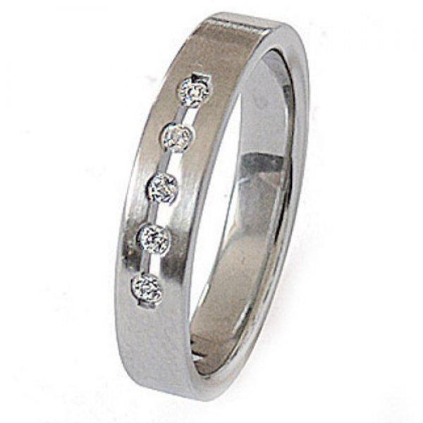 Ocelový prsten se zirkony ZSQ04025