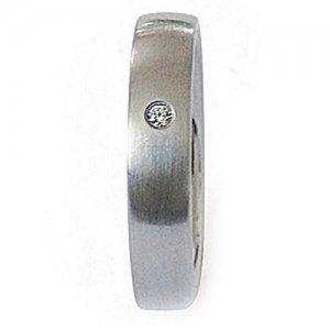 Ocelový prsten se zirkonem ZSQ04027