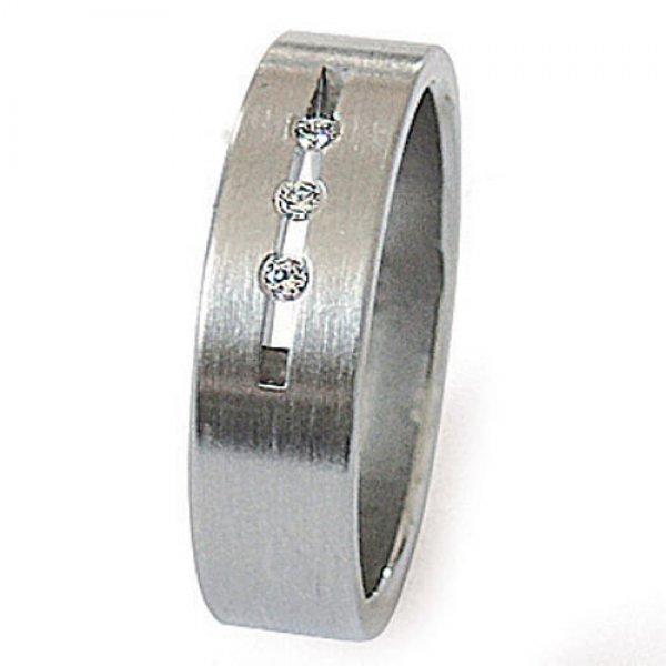Ocelový prsten se zirkony ZSQ06010