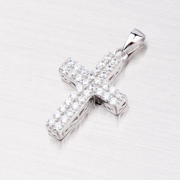 Stříbrný křížek se zirkony AP168