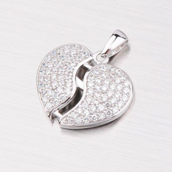 Stříbrné srdce se zirkony PXX02130272