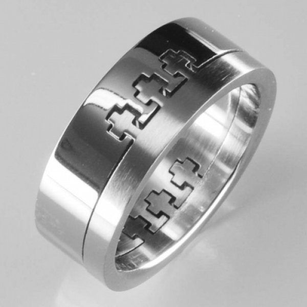 Ocelový prsten 232482