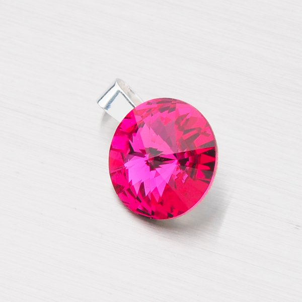 Přívěsek s krystalem  12 mm D113ČV