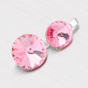 Přívěsek s růžovými krystaly D139R