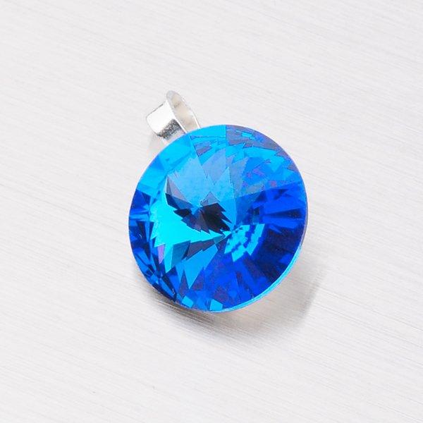 Přívěsek s tmavě modrým krystalem 10 mm D119TM-JK