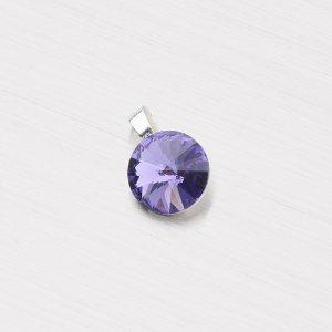 Přívěsek s fialovým krystalem D118TF