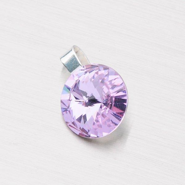 Přívěsek stříbrný  s krystalem 12 mm D113F-JK