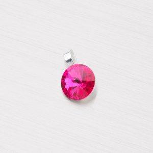 Přívěsek s růžovým krystalem D118ČV