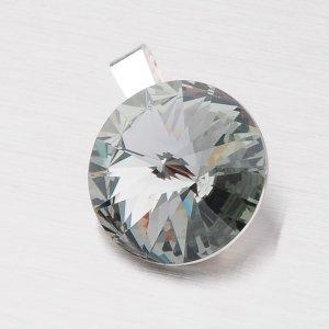 Stříbrný přívěsek s krystalem 14 mm D132ČN-JK