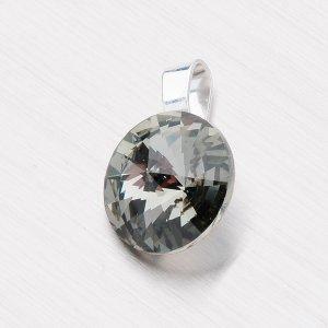 Přívěsek s krystalem 12 mm D113ČR-JK