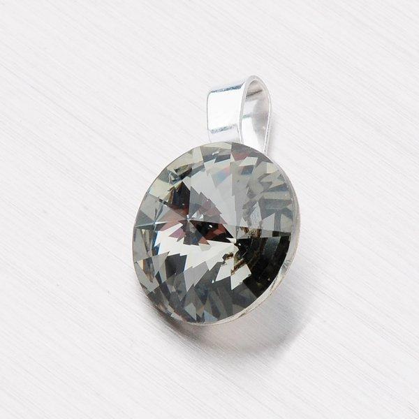 Přívěsek s krystalem 12 mm D113ČR