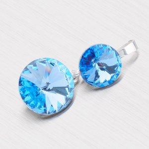 Přívěsek s modrým krystalem D139SM-JK