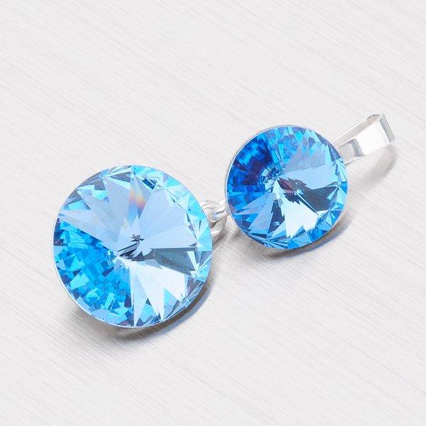 Přívěsek s modrým krystalem D139SM