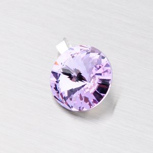 Stříbrný přívěsek s fialovým krystalem 10 mm D119F-JK