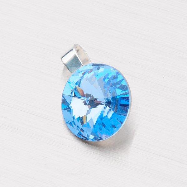 Stříbrný přívěsek s krystalem 12 mm D113SM-JK