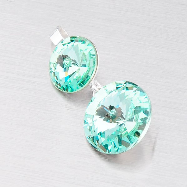 Stříbrný přívěsek s krystaly D139Z