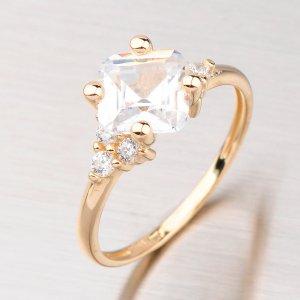 Prsten zlatý se zirkony GZ2308